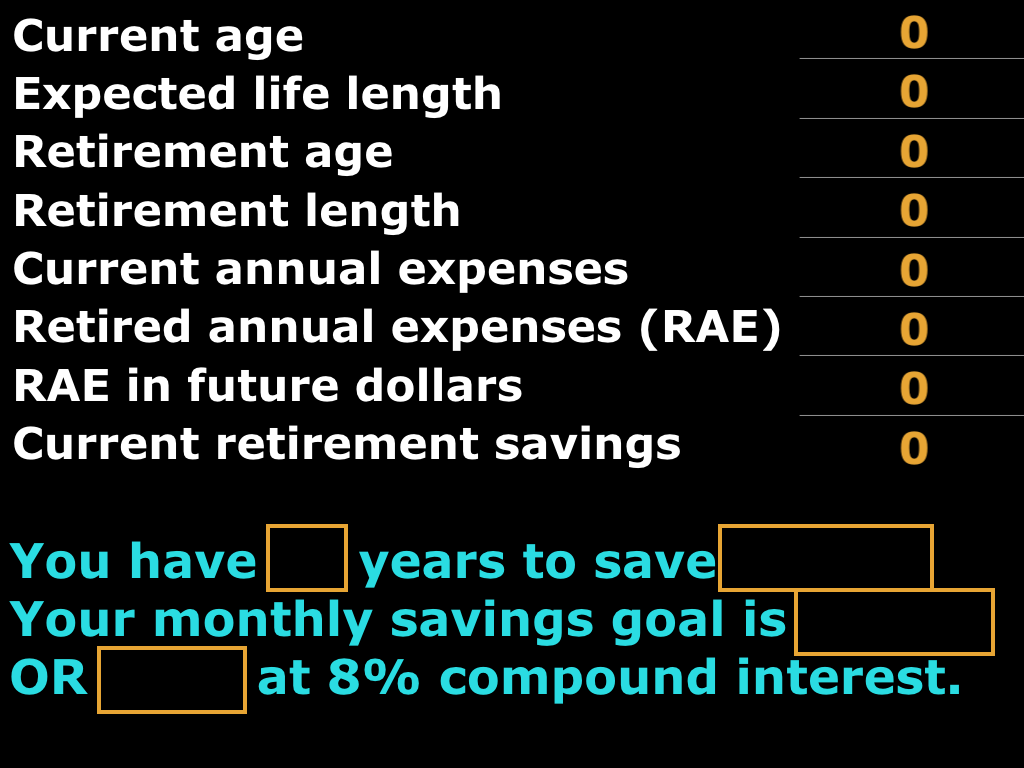 answer calculate retirement savings goal comedic financial