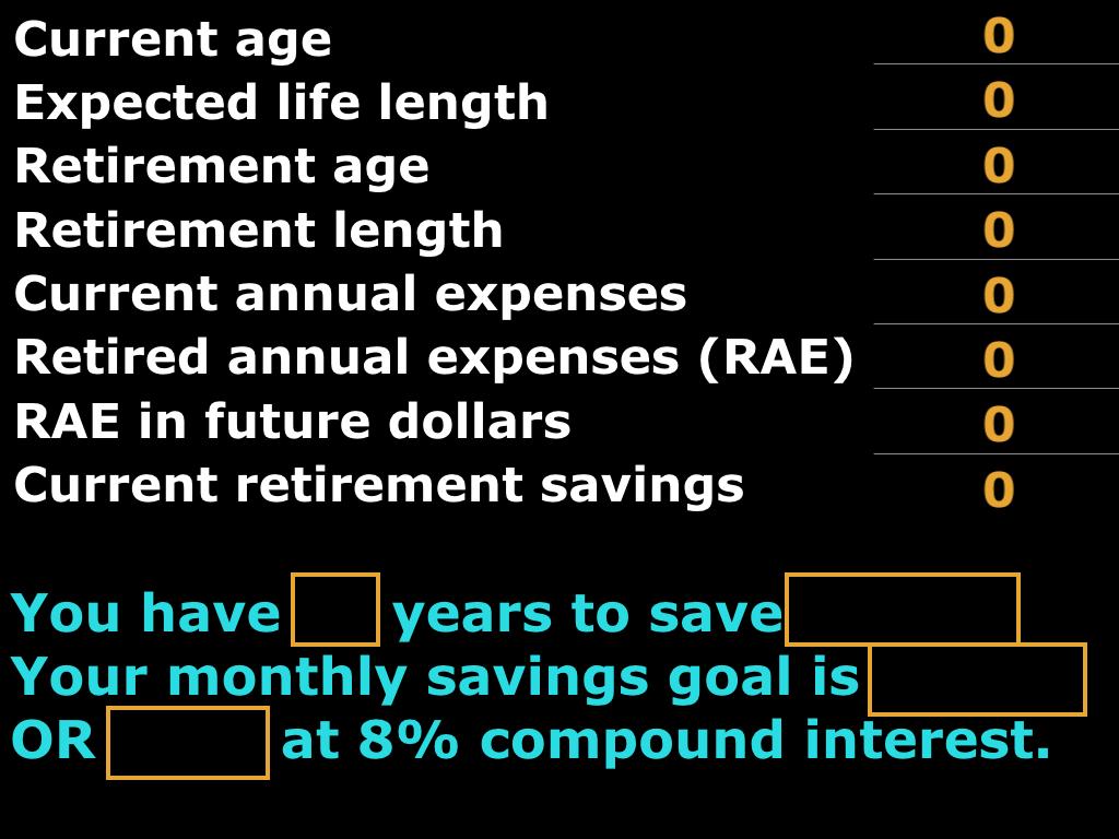 Retirement Calculator - Financial Speaker Comedian Colin Ryan